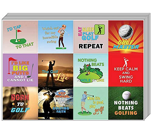 Creanoso Hobby Golf Stickers (10-Sheet) - Inspiring Inspirational Funny Sayings Stickers for Golfers - Funny Stickers Wall Art Decal Décor Set - Incentive Gift Rewards for Men & Women, Adult Golfers