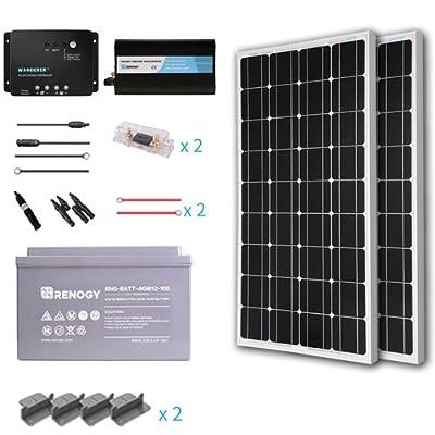 Renogy Complete Solar Panel kit Monocrystalline (AGM)