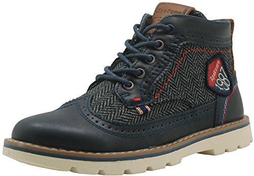 Apakowa Kurzschaft Herren Stiefel Combat Boots Klassische Stiefel (Color : DarkBlue3, Size : 1.5 UK/34 EU)