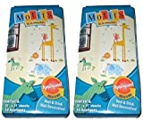 Motifs in a minute Peel & Stick Removable Reusable Zoo Animals Decorations (2 Pack)