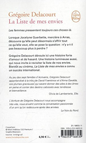 cdd8eba90122 La liste de mes envies (Litterature   Documents)  Amazon.co.uk  Gregoire  Delacourt  9782253168539  Books