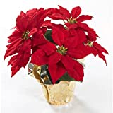 Brighten the Season Artificial Poinsettia Plant