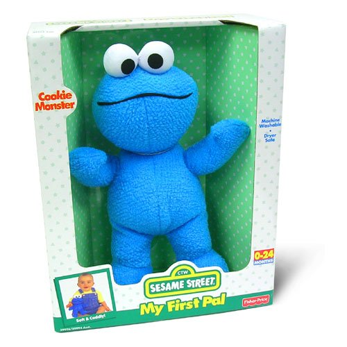 Sesame Street - Plush - Fisher Price My 1st Pal - Cookie Monster