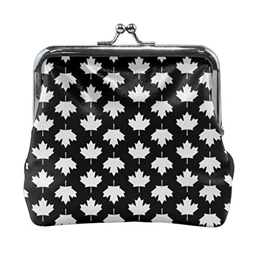 Guangze Canada Maple Leaf Women's Cute Buckle Coin Purse Cash Key Bag
