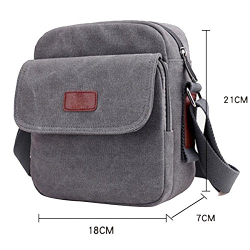 Bag Bag Brown Canvas Outdoor Men's brown Fashion Shoulder Casual nqv4wpHP