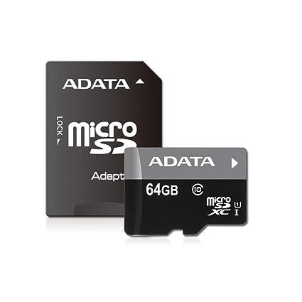 ADATA Micro SDXC 64GB - Tarjeta microSD de 64 GB, Negro