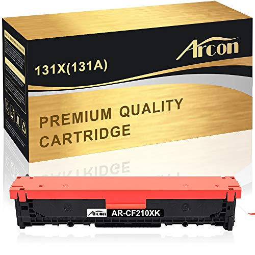 Arcon Compatible Toner Cartridge Replacement for HP 131A 131X CF210X CF210A CF211A CF212A CF213A HP LaserJet Pro 200 color M251nw HP M251nw MFP M276nw Canon 131 MF8280Cw LBP7110Cw Printer(Black,1 PK)