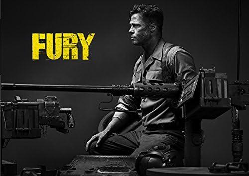 """映画 フューリー Fury ポスター 42x30cm ブラッド ピット ドン・""""ウォーダディー""""・コリアー 【並行輸入品】"""