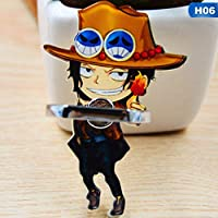 Hongsawat.jawan5612 Luffy Straw Hat Anime One Piece Luffy Straw Hat 360 Degree Metal Finger Ring Mobile Phone Smartphone Stand Holder for iPhone Ipad