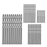Fan-Ling40Pcs Spiral Drills,High Speed Steel Straight Shank Twist Drill Bits,1/1.5/2/2.5/3mm Drill Bit Set, Cobalt Drill Bit Steel Straight Shank,Multiple size options
