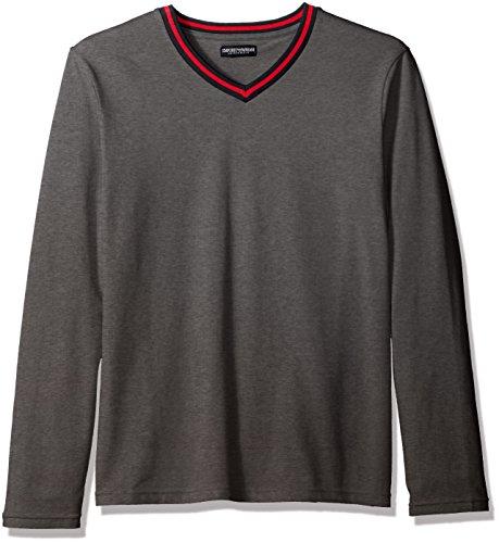 Emporio Armani - Camiseta de manga larga - para hombre GRIGIO SCURO MELANGE