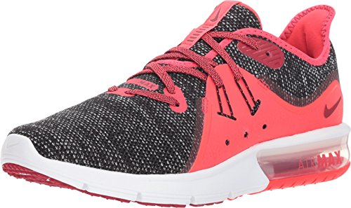 Nike Women's Air Max Sequent 3 Black/Red Crush/White Running Shoe 8 Women US (Air Nike Max Red Womens)