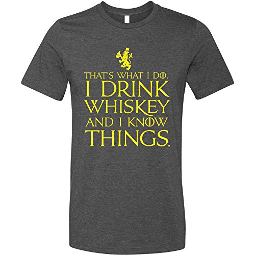 (GunShowTees Men's That's What I Do I Drink and I Know Things Shirt, 2X-Large, Dark)