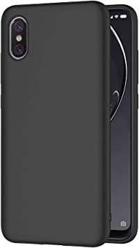 AICEK Funda Xiaomi Mi 8 Pro, Negro Silicona Fundas para Xiaomi ...