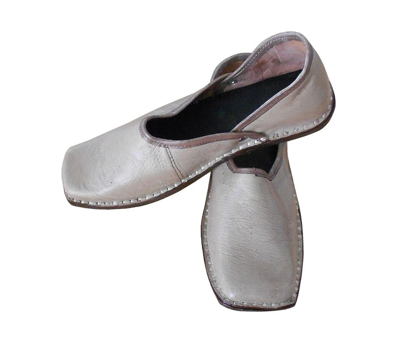 kalra Creations Hombre tradicional indio piel Mocasines Zapatos, color, talla 41.5 EU