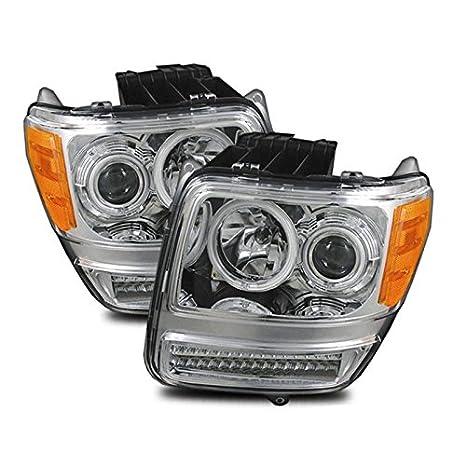 migliore qualità per prezzo più basso con elegante e grazioso Sppc Chrome proiettore faro CCFL Halo per Dodge Nitro ...