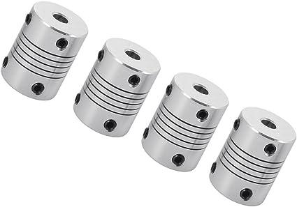 Wellenkupplung flexibel Alu 5mm 5mm Nema 17 Motor CNC 3D Drucker RepRap