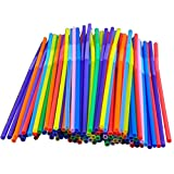 niceeshop(TM) Assorted Colors 50-pc Flexible & Disposable Drinking Smoothie Straw