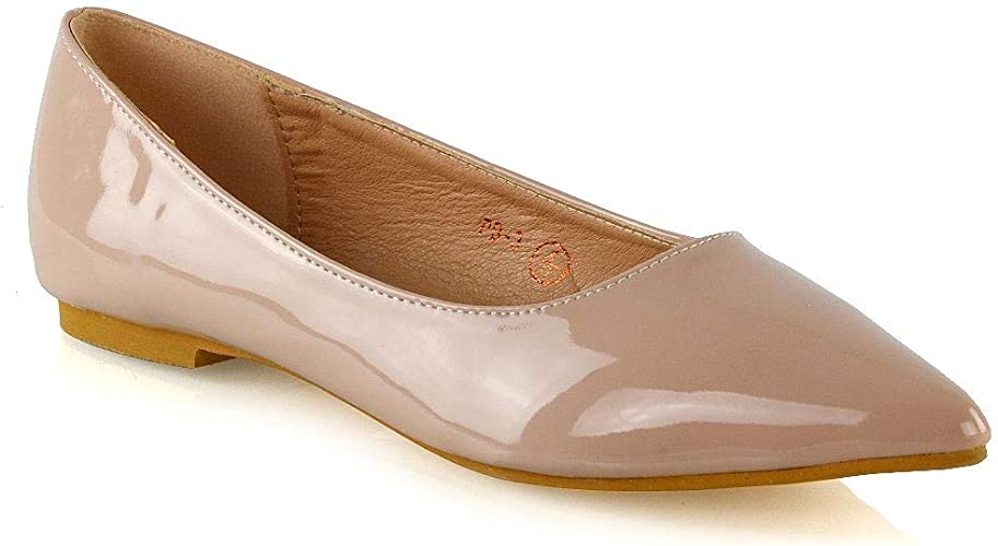ESSEX GLAM Womens Pointed Toe Flats