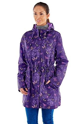 Femme Pro Butterfly Climate Purple Manteau Parka Imperméable IIrZP