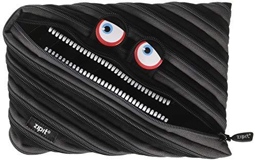 ZIPIT Wildlings Big Pencil Case/Cosmetic Makeup Bag, Black by ZIPIT