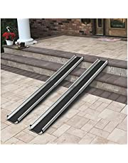 Wheelchair Ramps, Adjustable Length Portable Folding Aluminum Ramp, Handicap Ramp for Wheelchair, Home, Steps, Stairs, Doorways, Scooter, Load Bearing 600 Lbs