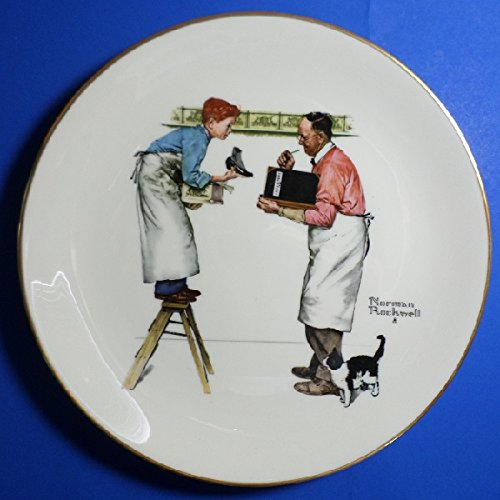 Gorham ** 1979 LE Norman Rockwell Four Season Plates-Year End Count, Winter ** NR1979-4