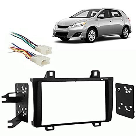 fits toyota matrix 2009 2010 w o nav double din harness radio install dash kit Toyota Highlander Wiring Harness