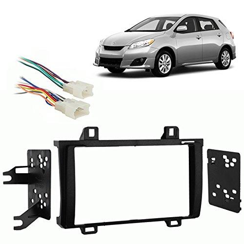 Fits Toyota Matrix 2009-2010 w/o NAV Double DIN Harness Radio Install Dash Kit