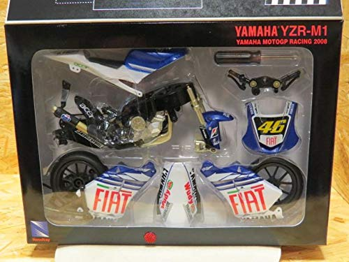 NEW RAY YAMAHA MODEL KIT YZR-M1 MOTOGP RACING 2008 #46 VALENTINO ROSSI 1:12 SCALE DIE-CAST 43375