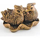 Feng Shui Mandarin Ducks - (The Symbol of Love and Marriage) Brown Resin Figurine 27707