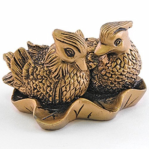 Giftman Feng Shui Mandarin Ducks - (The Symbol of Love and Marriage) Brown Resin Figurine 27707