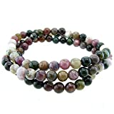 Stunning 6mm Round Stackable Tourmaline Bead Stretchy Bracelet / Necklace