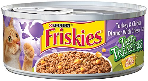 Friskies Wet Cat Food, Tasty Treasures, Pate, Turkey & Chick