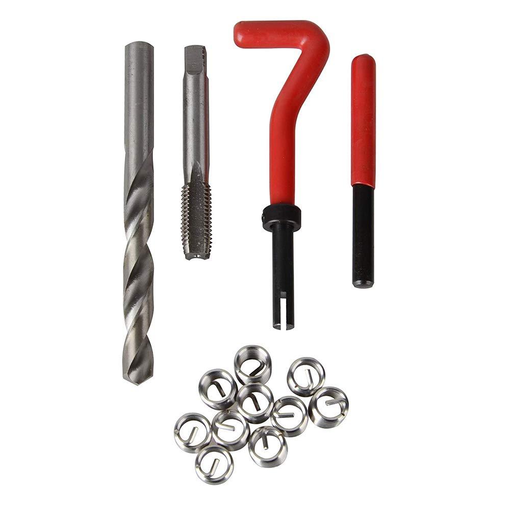 1,5 KKmoon 15Pcs Filetage M/étrique R/éparation Insert Kit M5 M6 M8 M10 M12 M14 Helicoil Voiture Bobine Pro Outil M14