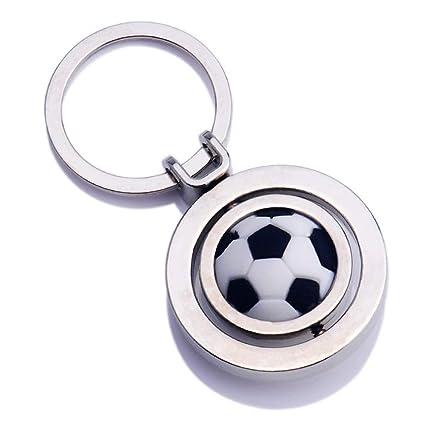 LIOOBO Rotación de fútbol Colgante Llavero Llavero Llavero ...