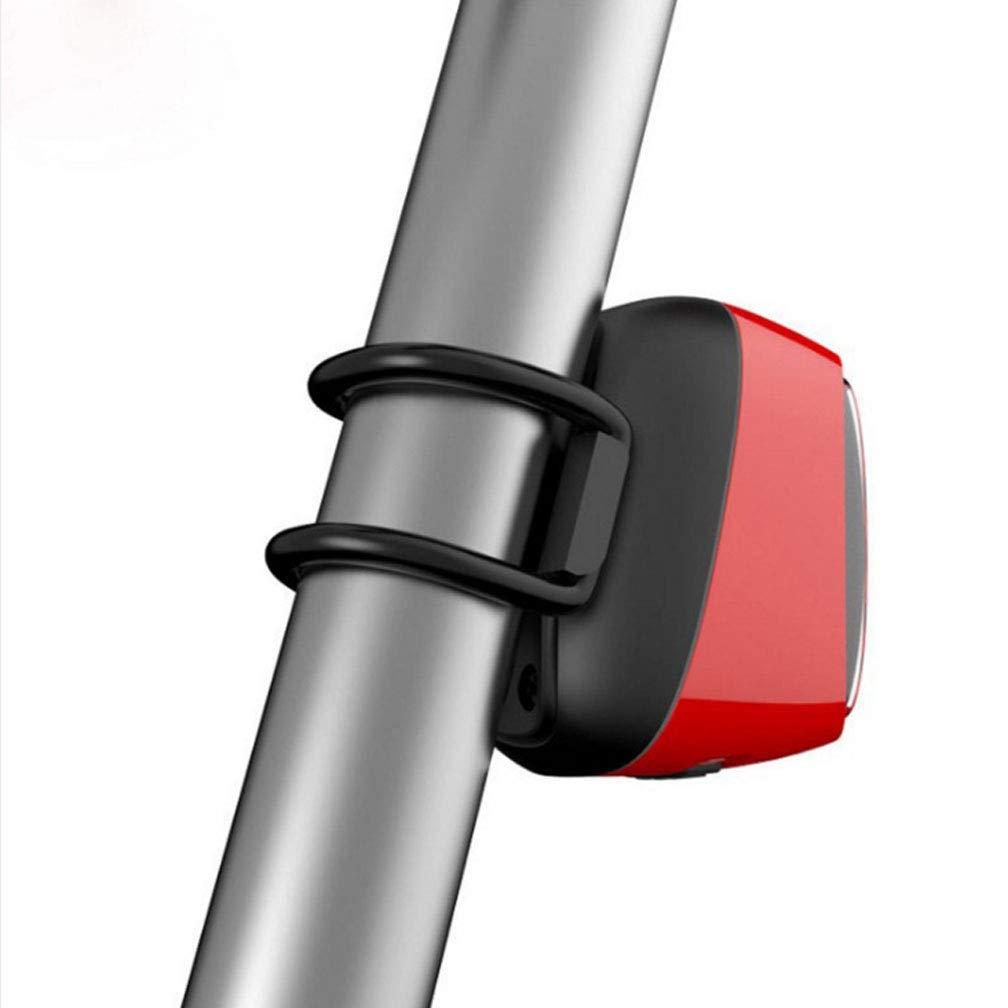 HL-BT Bicicleta De Montaña Luz Trasera Impermeable IPX6 Inteligente Bicicleta Cola Lámpara USB De Carga Luces De Advertencia Burst con Batería 900Mah,Red: ...