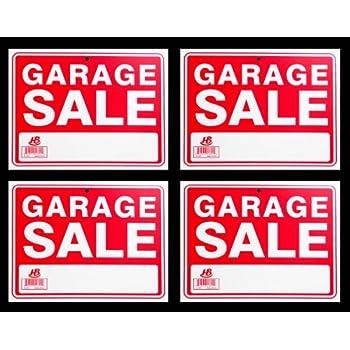 Amazon.com: Carteles de venta de garaje con 2 letreros, 2 ...