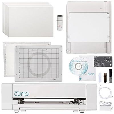 Silhouette Curio Digital Crafting Machine with Deep Cutting Bundle