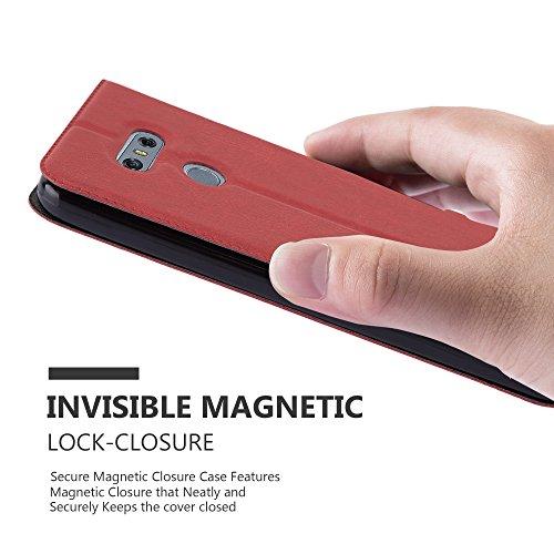 Cadorabo - Funda Book Style de Cuero Sintético en Diseño View para >                                          LG OPTIMUS G6                                          < con Imán Invisible, Función de Soporte y Doble Ventana