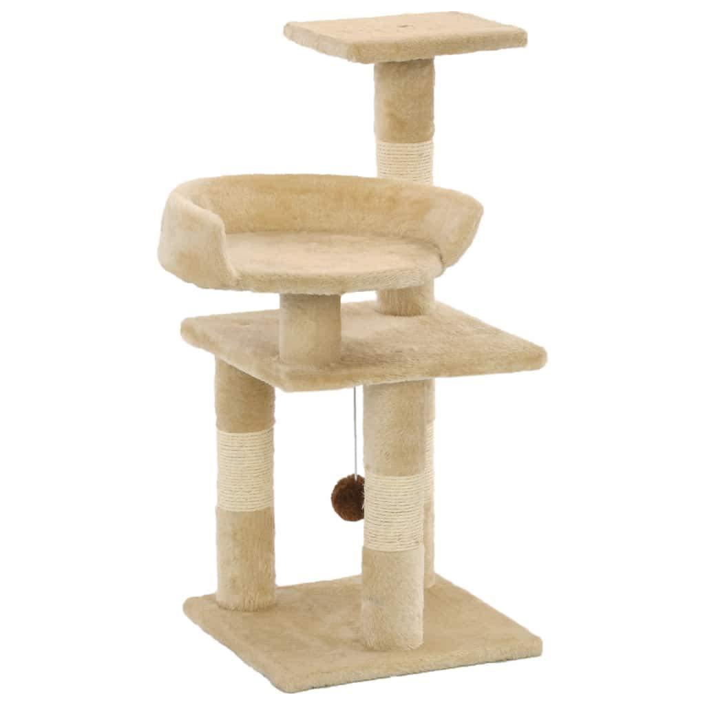 vidaXL Rascador para Gatos con Postes de Sisal 65cm Beige Accesorios Mascotas: Amazon.es: Productos para mascotas