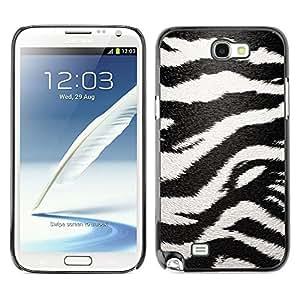 Cubierta de la caja de protección la piel dura para el SAMSUNG GALAXY NOTE 2 / N7100 - zebra pattern art black white stripes