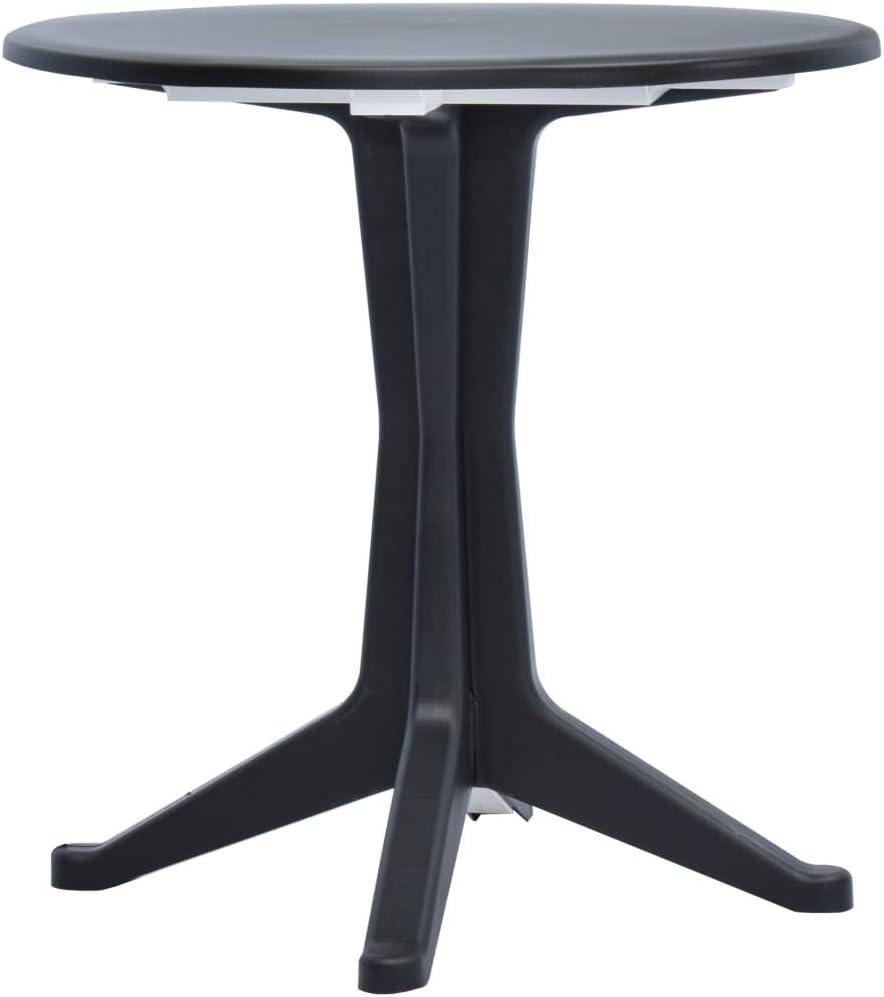 Festnight Garten Esstisch | Kunststoff Gartentisch | Outdoor Terassentisch | Bistrotisch | Balkontisch | Kunststoff Tisch | Weiß Kunststoff 70 x 72 cm