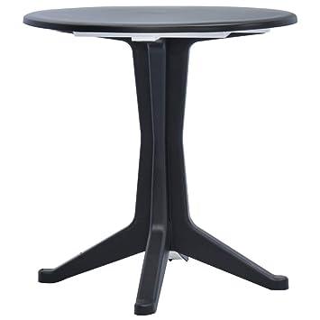 Festnight- Table de Jardin Plastique Ronde Table à Manger ...