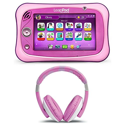 LeapFrog LeapPad Ultimate for Kids Ages 3-9 Headphones, Adorable Pink Set for Your Little One, Interactive Learning Tools, Amazing Discovery, Life Skills, Educational Activity for Kids