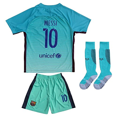 20162017-BARCELONA-10-LIONEL-MESSI-THIRD-GREEN-SOCCER-JERSEY-SHORTS-YOUTH-SIZES
