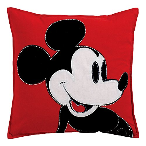 Ethan Allen | Disney Color Block Mickey Mouse Pillow, Mickey's Shorts (Red) ()