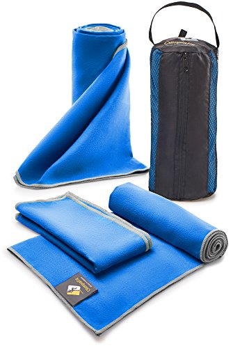 3 Size Towels at the Price of 1 – Super Pack – Fast Quick Dry · Super Absorbent · Ultra Compact · Lightweight · Antimicrobial · Set Microfiber Towels – Best For Gym Travel Camp Backpacking Yoga Fitnes – DiZiSports Store