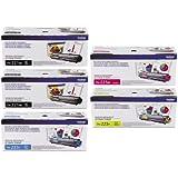 Genuine Brother TN221BK, TN225C, TN225M, TN225Y Color (2xBK/C/M/Y) Toner Cartridge 5-Pack Brother HL-3140CW, HL-3170CDW, MFC-9130CW, MFC-9330CDW