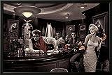 james dean chris consani - Professionally Framed Chris Consani Java Dreams James Dean Elvis Presley Marilyn Monroe Humphrey Bogart Art Poster - 24x36 with RichAndFramous Black Wood Frame